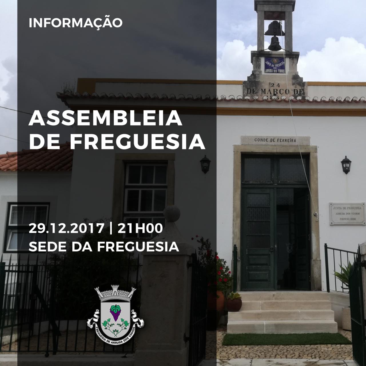 Convocada Reunião da Assembleia de Freguesia