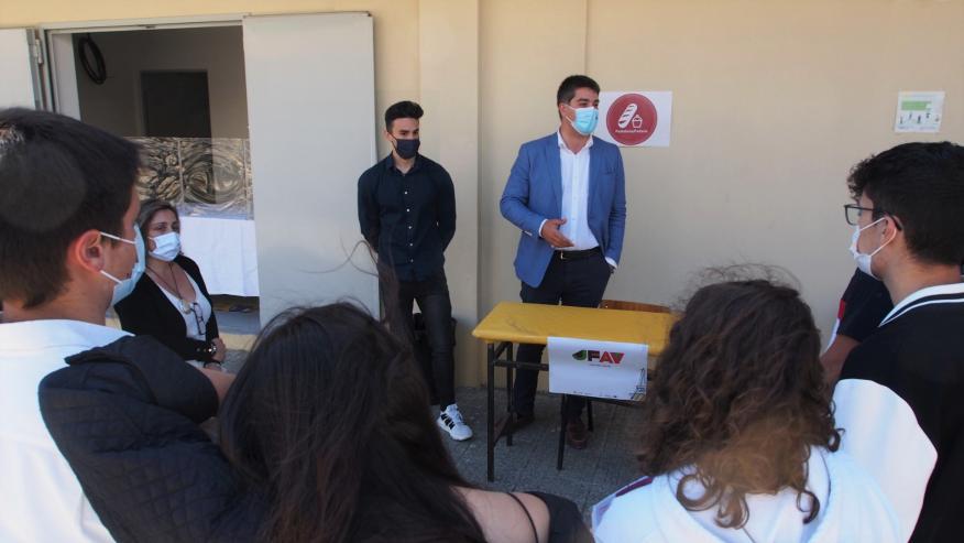 JFAV apresenta-se aos alunos da Gustave Eiffel