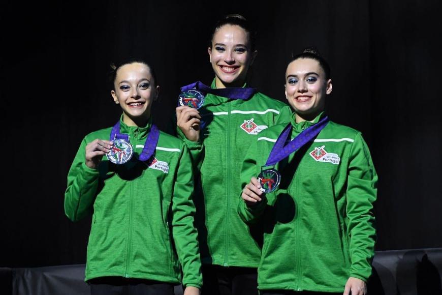 Atleta arrudense vence prata nos Europeus de Ginástica Acrobática