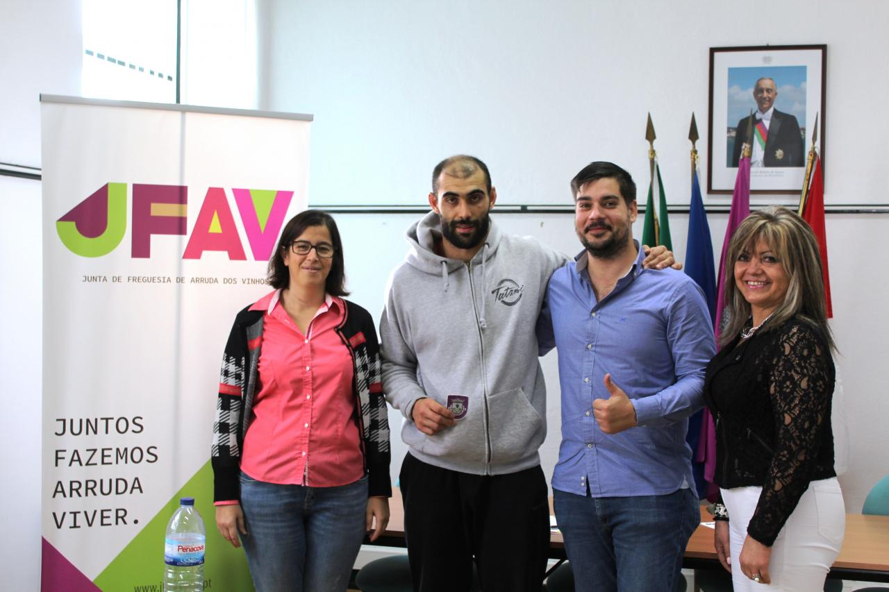 Assinado protocolo com atleta Rúben Fonseca