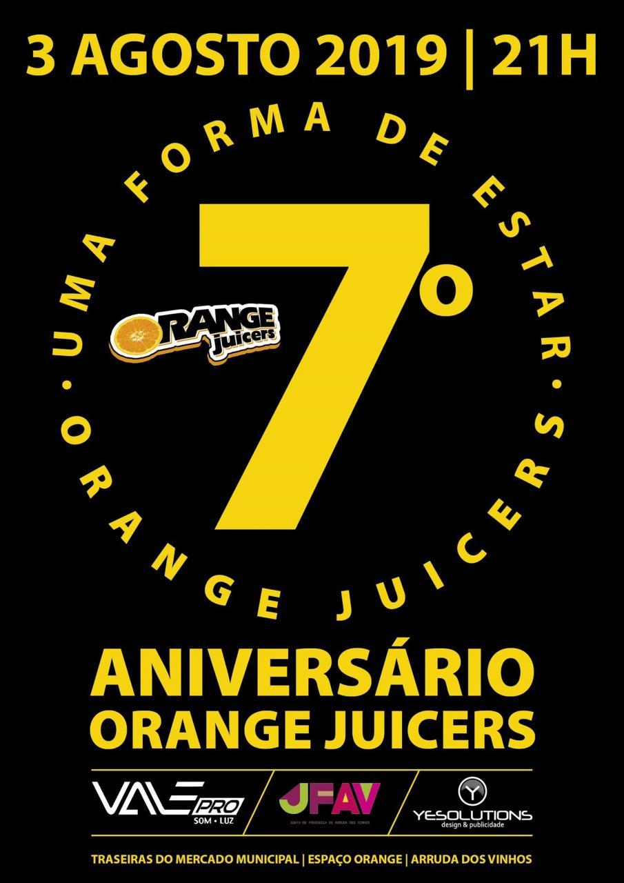 7.º Aniversário dos Orange Juicers