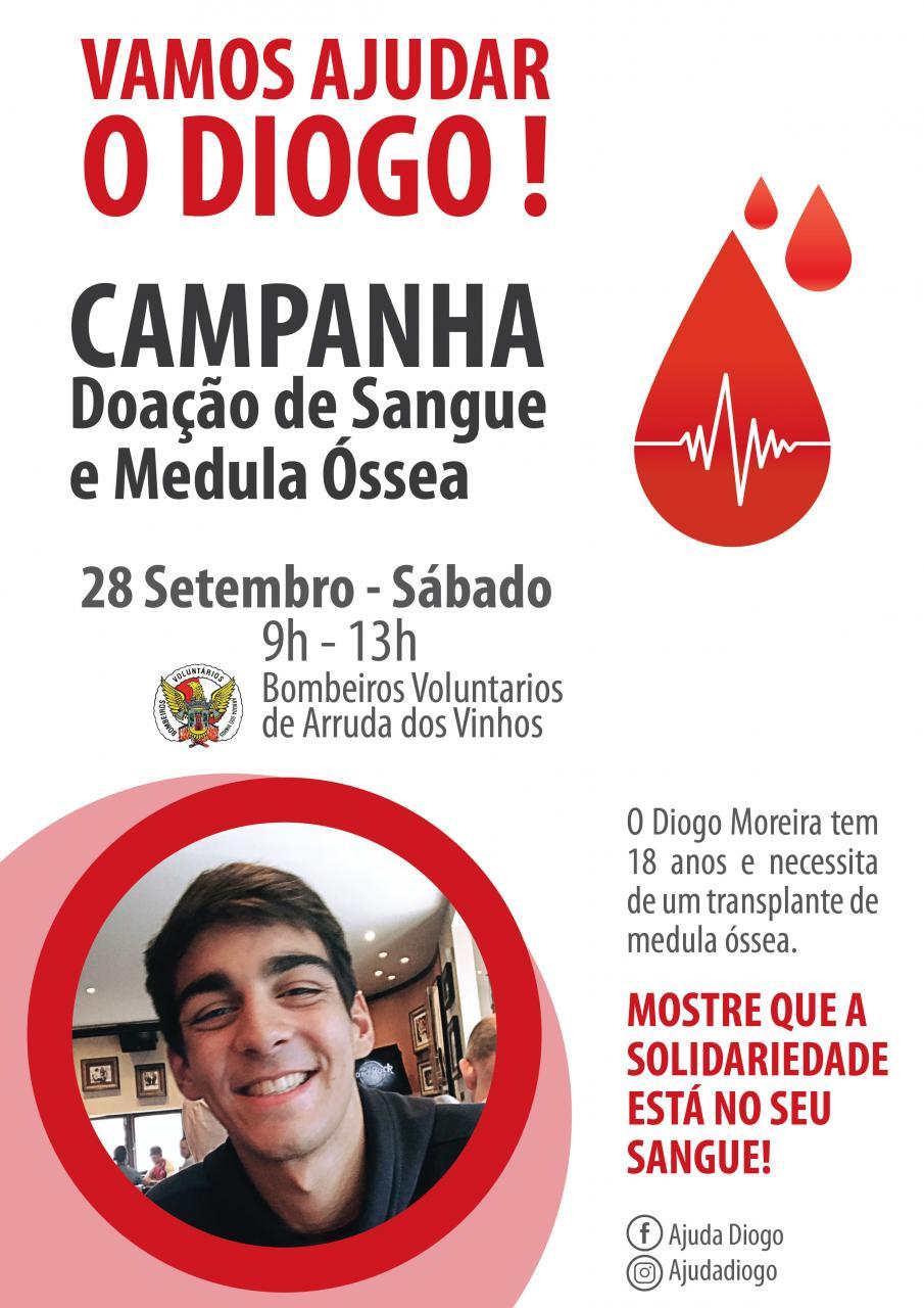 Vamos Ajudar o Diogo - Campanha de Doação de Sangue e Medula Óssea