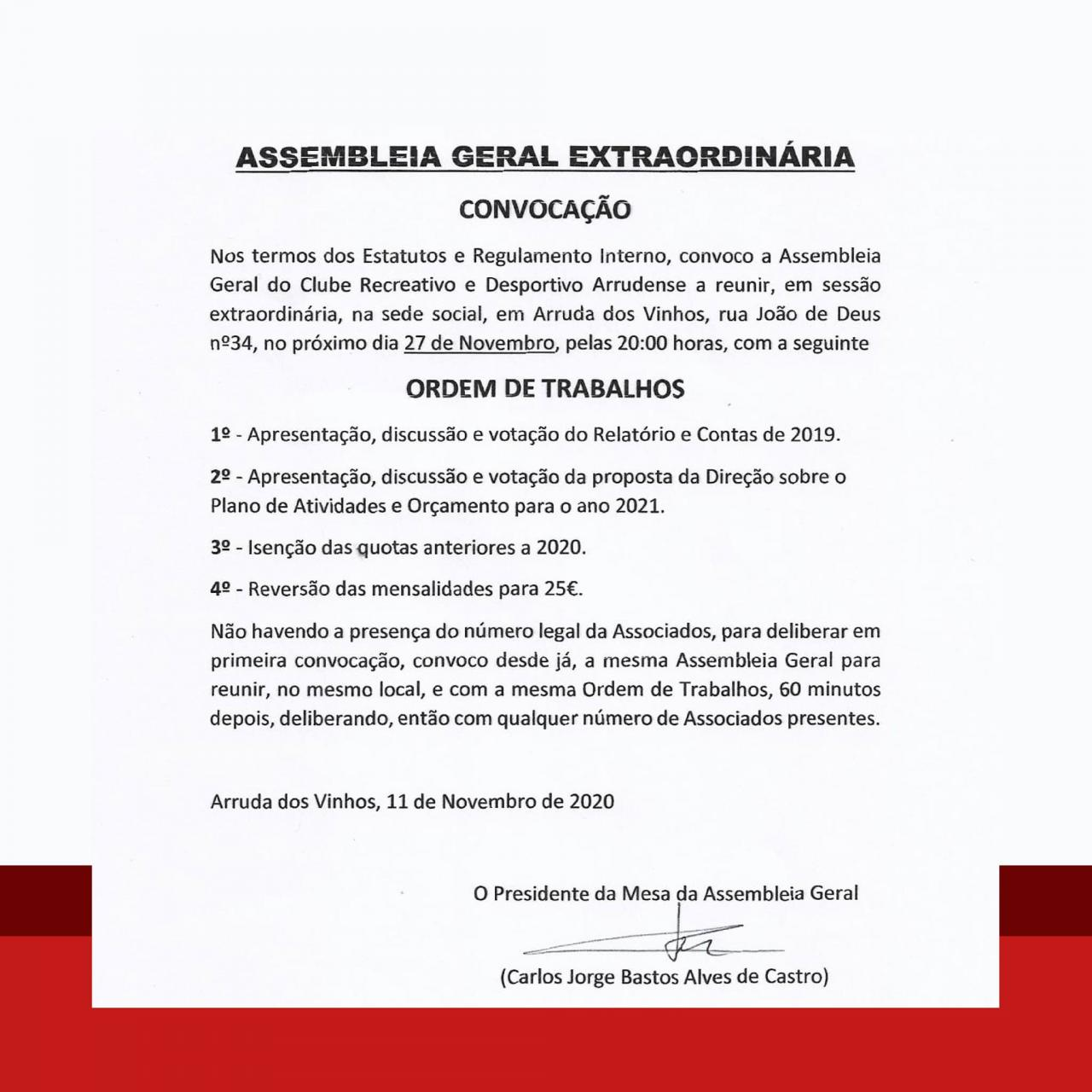 CRDA - Assembleia-geral