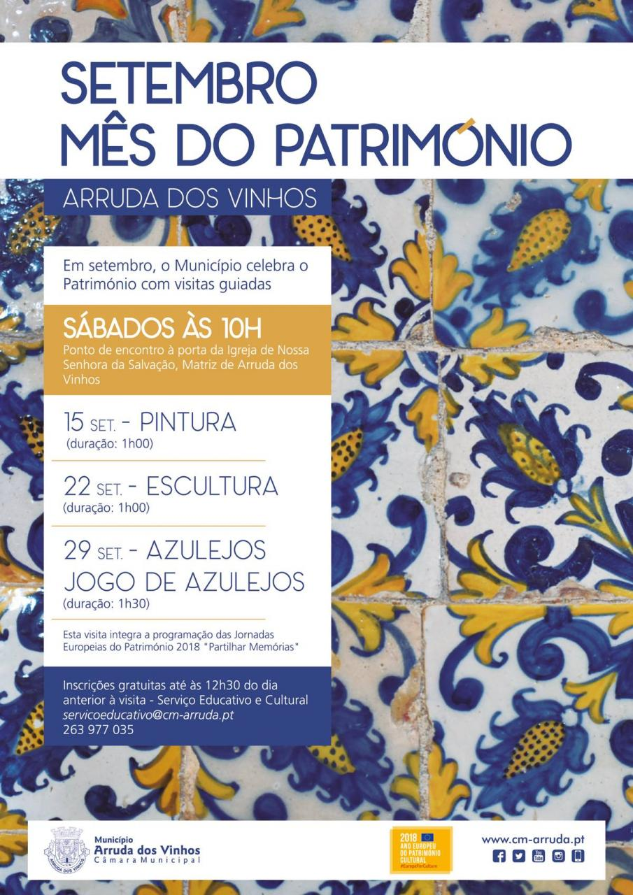Setembro - Mês do Património | Azulejos | Visitas Guiadas